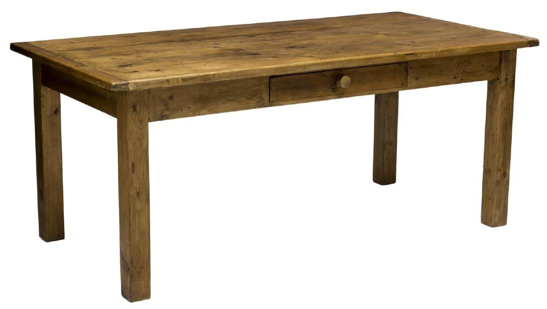 PINE FARMHOUSE TABLE WITH DRAWER
