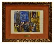 RAOUL DUFY (1877-1953) COLOR LITHOGRAPH, ORCHESTRA