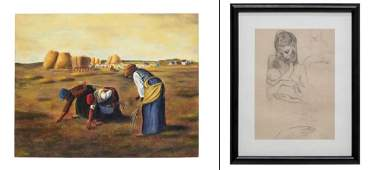 (2) MODERN ART GROUP, PICASSO PRINT & GLEANERS
