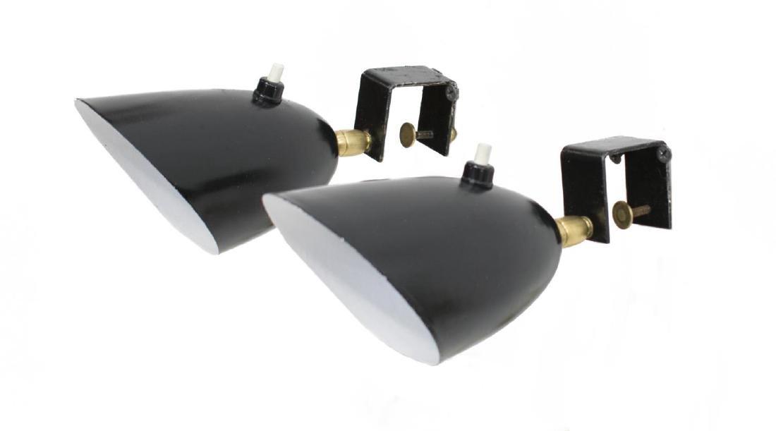 (2) STILNOVO STYLE ENAMEL METAL SPOTLIGHT LAMPS