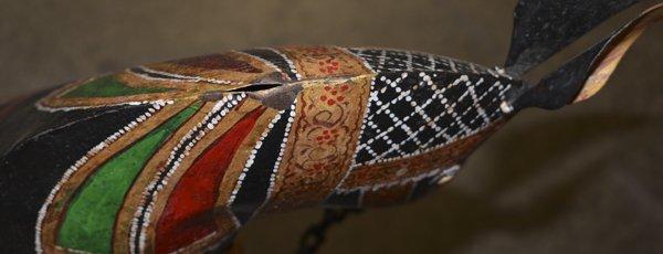 (2) DECORATIVE POLYCHROME METAL HORSES, INDIA - 5