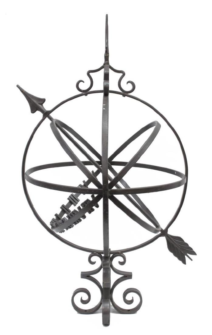 PAINTED IRON GARDEN SUN DIAL