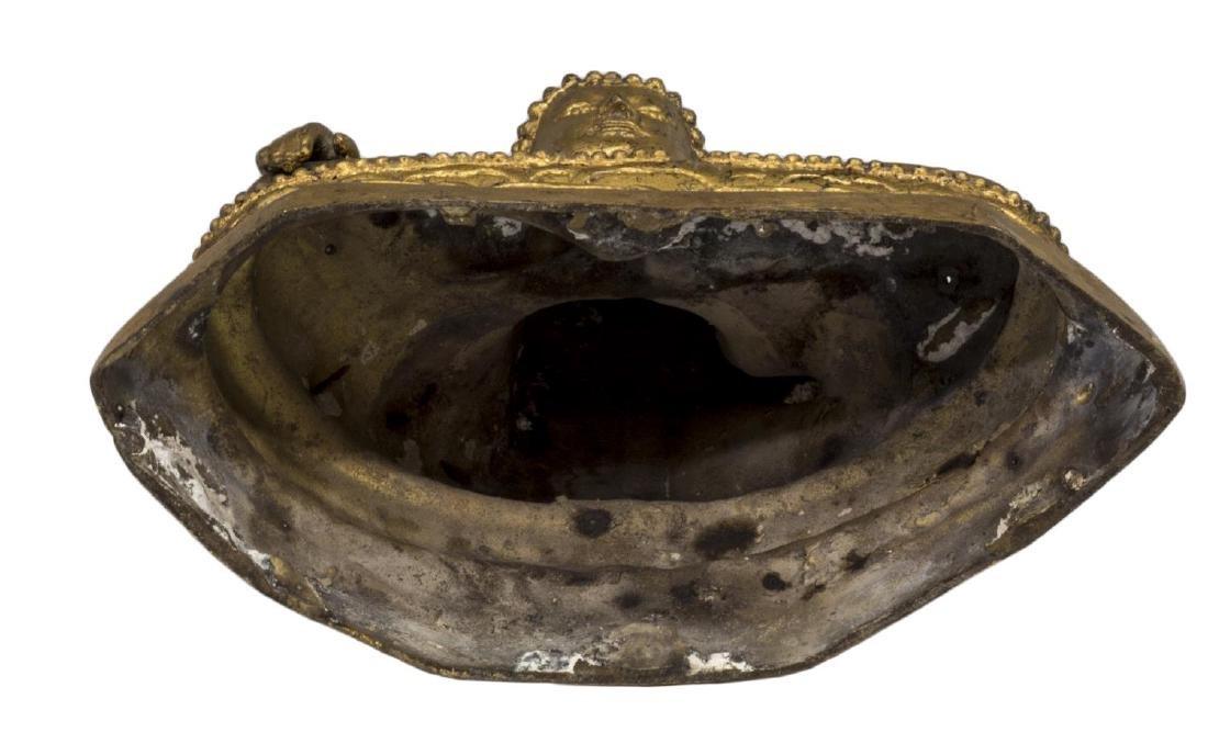 (2) THAI GILT BRONZE SEATED BUDDHAS - 3