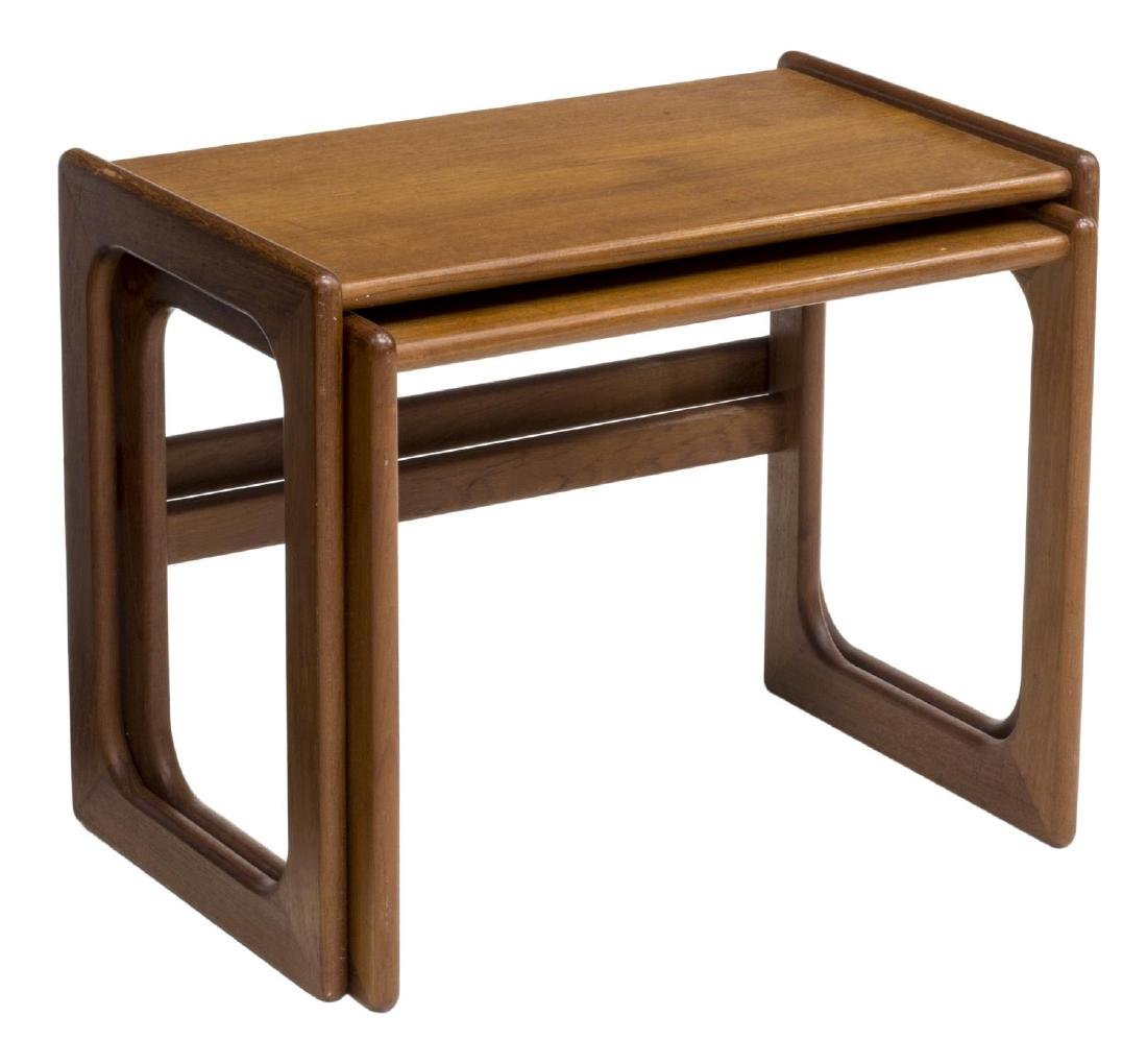(2) DANISH MID-CENTURY MODERN TEAK NESTING TABLES
