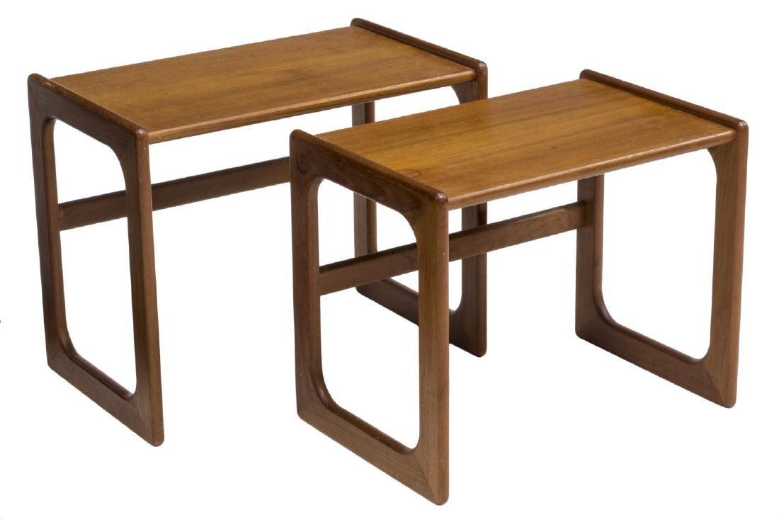 (2) DANISH MID-CENTURY MODERN TEAK NESTING TABLES - 2