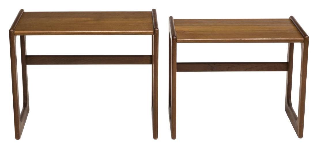 (2) DANISH MID-CENTURY MODERN TEAK NESTING TABLES - 3