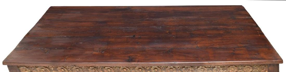 DUTCH COLONIAL STYLE CARVED TEAKWOOD COFFEE TABLE - 3