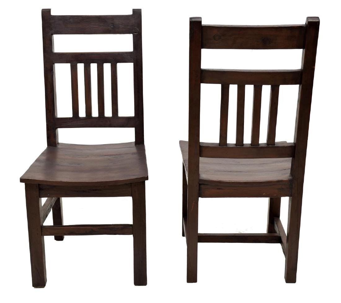 (6) COLONIAL STYLE TEAKWOOD SIDE CHAIRS - 3