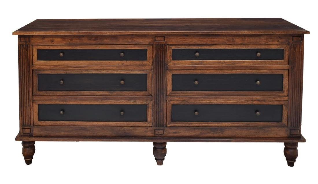 LARGE ROSEWOOD SIX DRAWER CHEST - 2