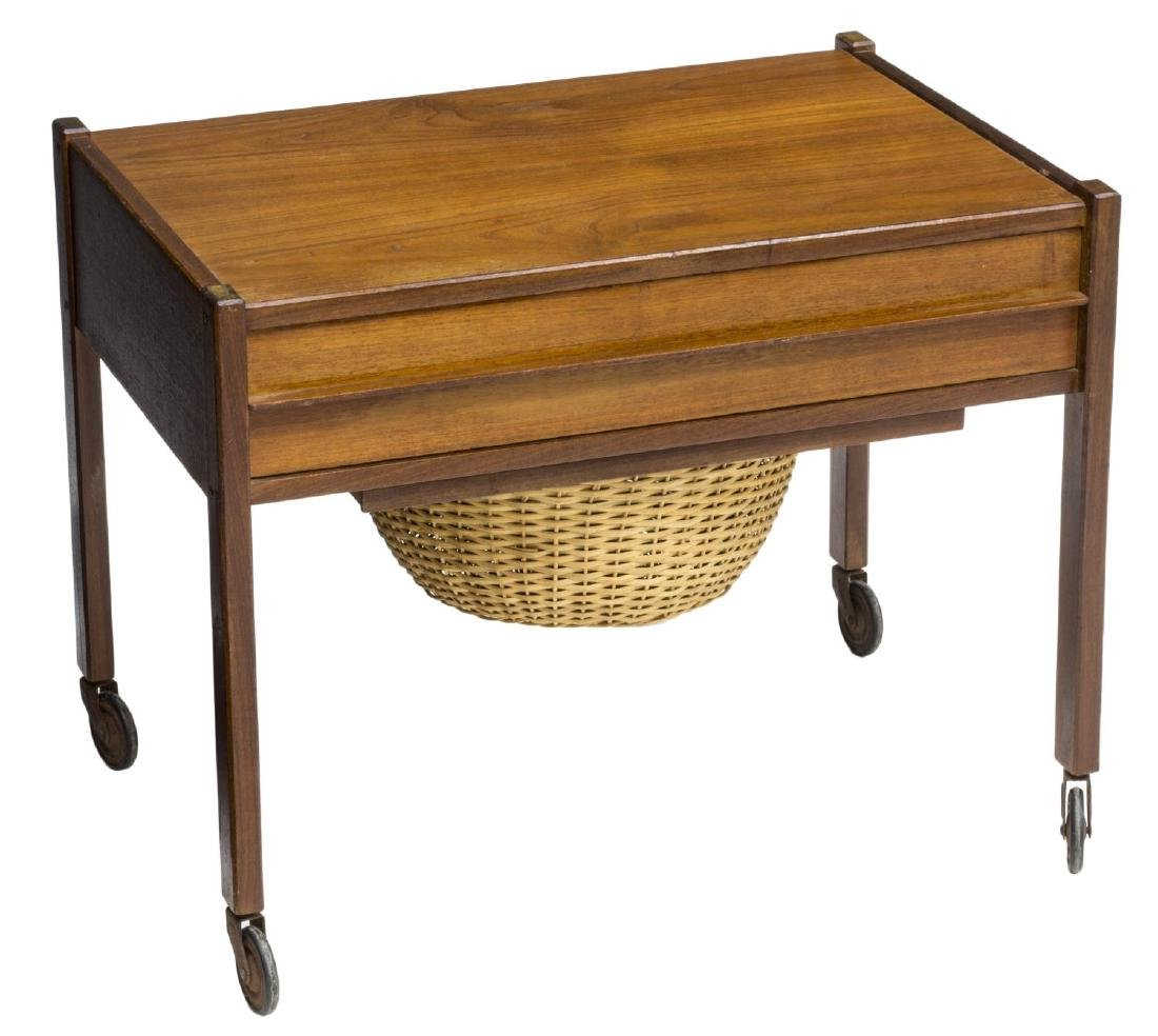 DANISH MID-CENTURY MODERN TEAKWOOD SEWING TABLE
