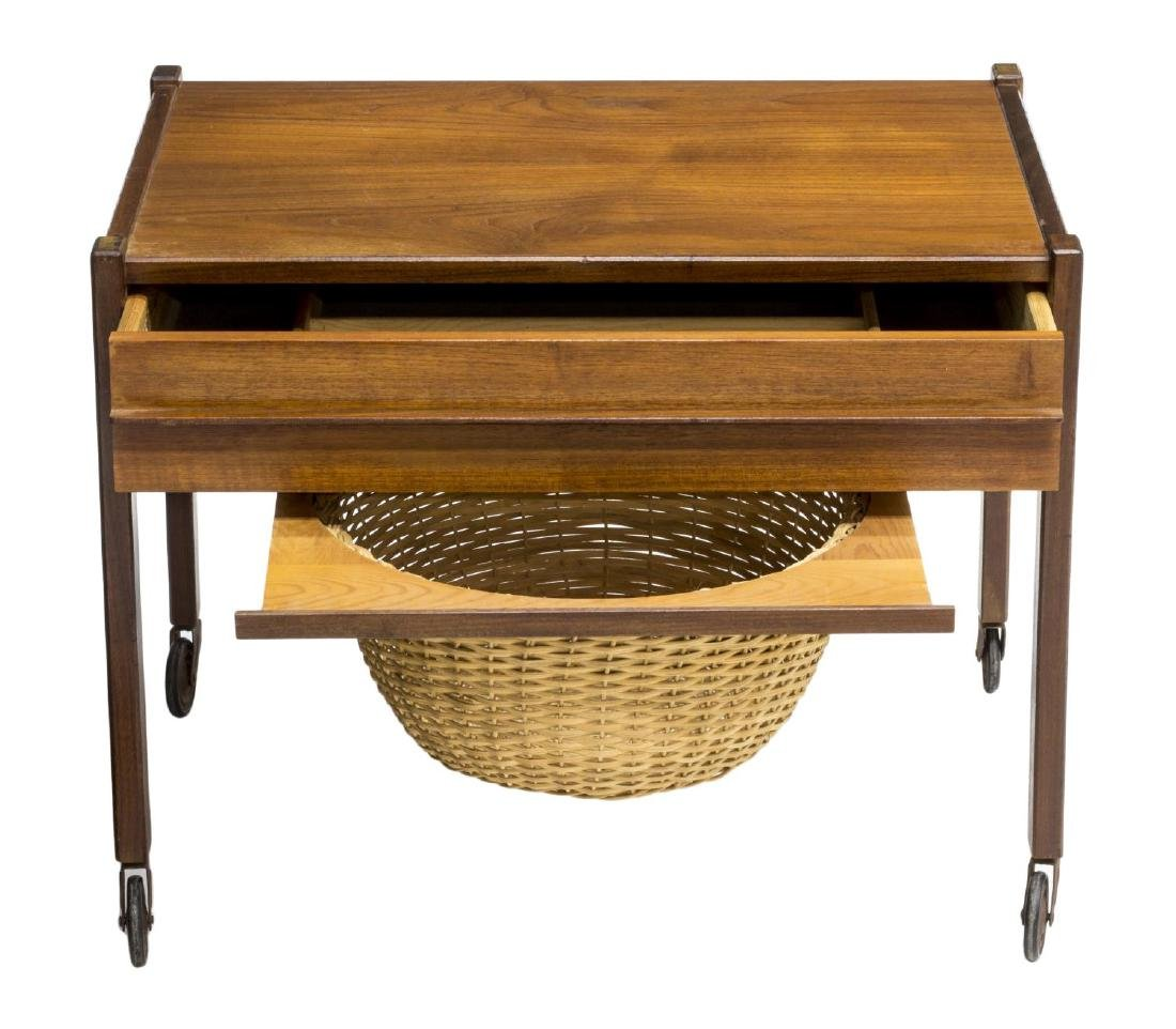 DANISH MID-CENTURY MODERN TEAKWOOD SEWING TABLE - 3