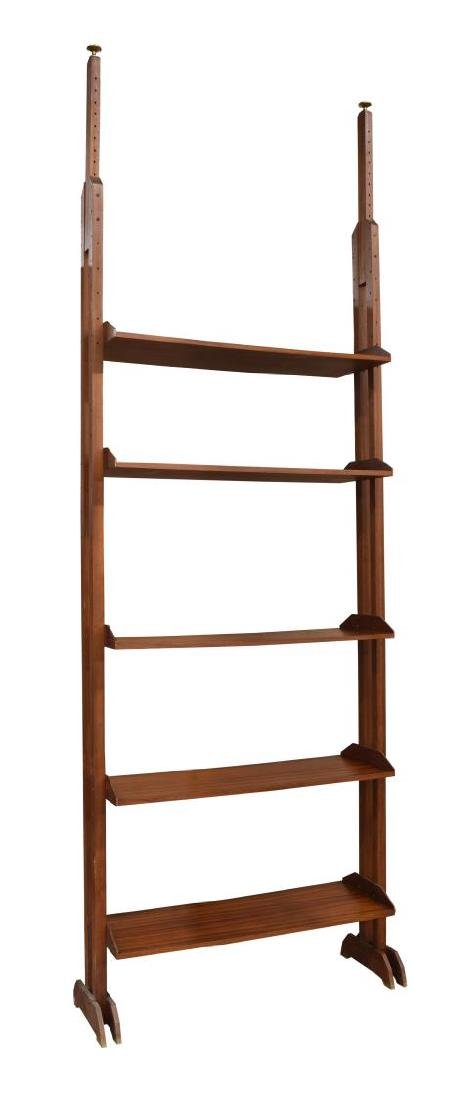 ITALIAN MID CENTURY MODERN ADJUSTABLE BOOKCASE