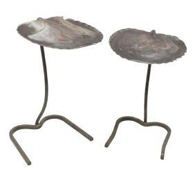 (2) SALTERINI ALUMINUM LILY PAD NESTING TABLES