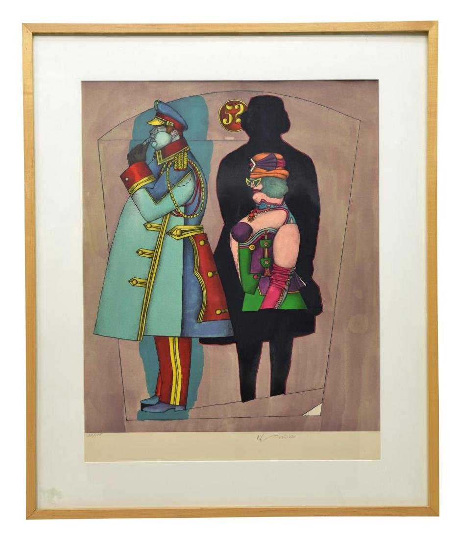 RICHARD LINDNER SIGNED LITHOGRAPH, 'FIFTH AVENUE'