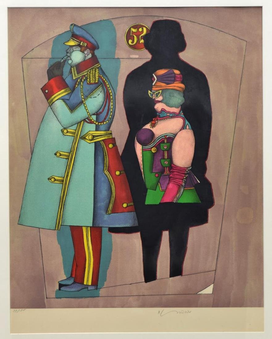 RICHARD LINDNER SIGNED LITHOGRAPH, 'FIFTH AVENUE' - 2