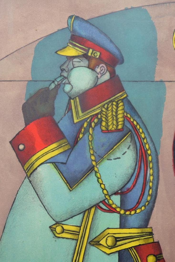 RICHARD LINDNER SIGNED LITHOGRAPH, 'FIFTH AVENUE' - 3
