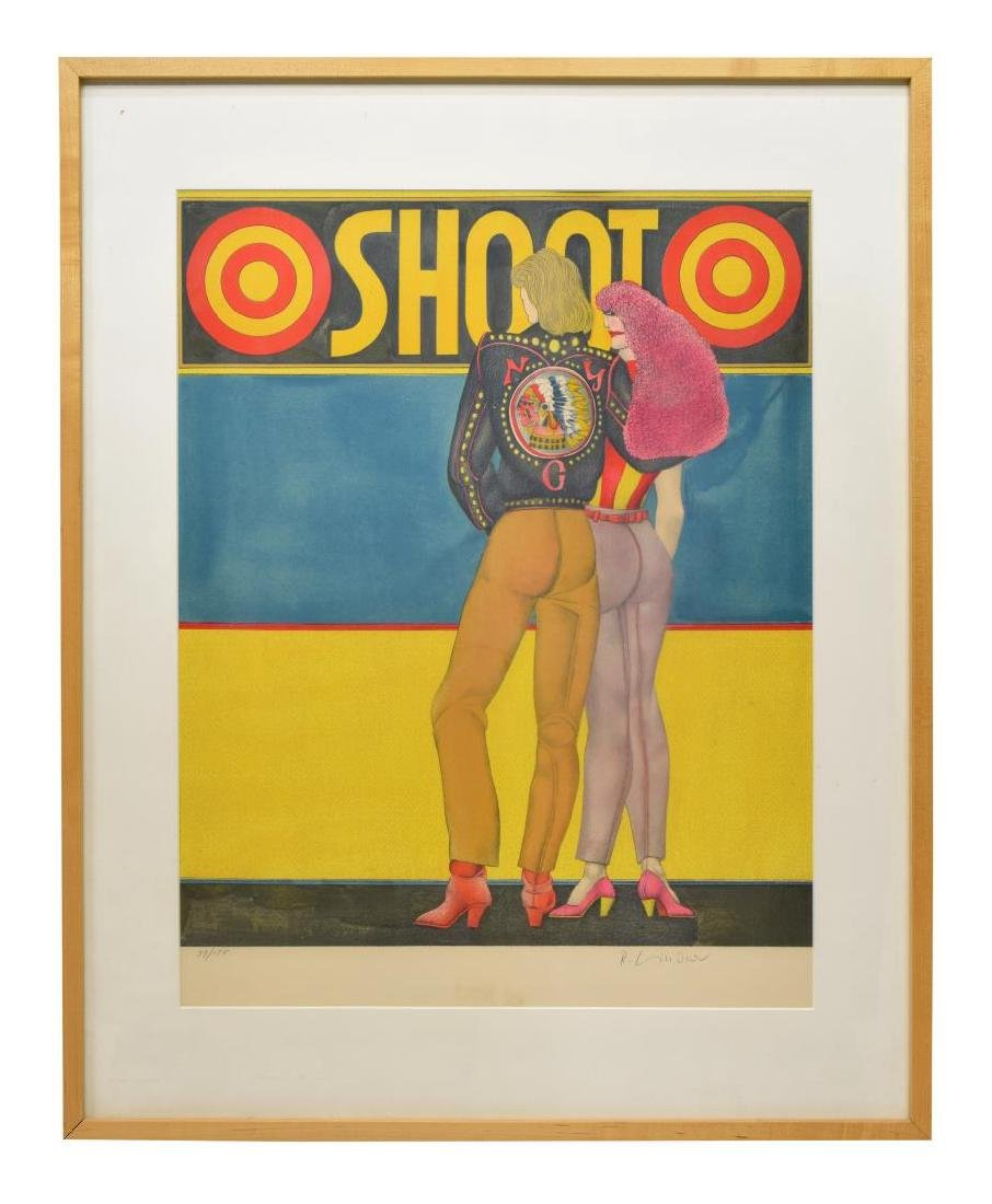 RICHARD LINDNER SIGNED LITHOGRAPH 'SHOOT'