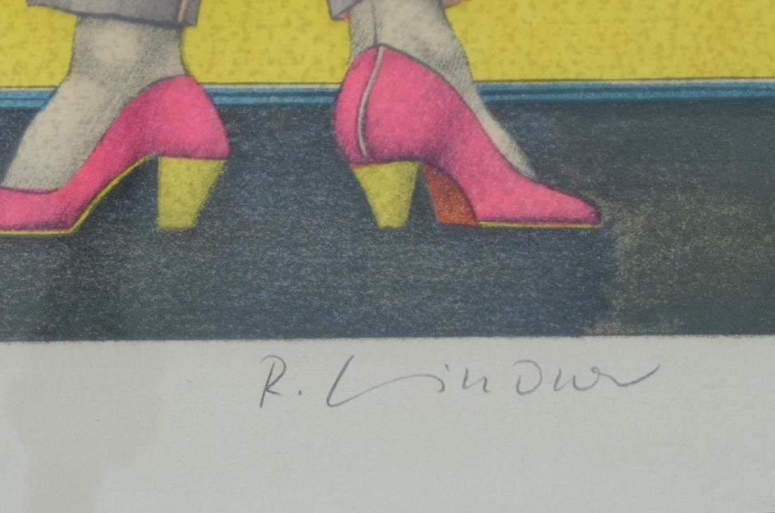 RICHARD LINDNER SIGNED LITHOGRAPH 'SHOOT' - 4