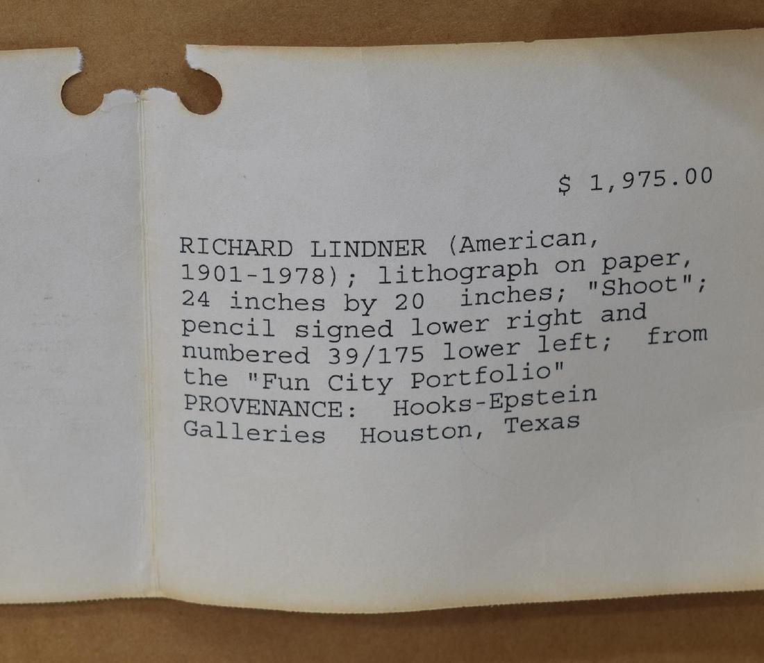 RICHARD LINDNER SIGNED LITHOGRAPH 'SHOOT' - 7