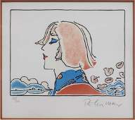 PETER MAX 'THE YOUNG PRINCE' LITHOGRAPH, 1976