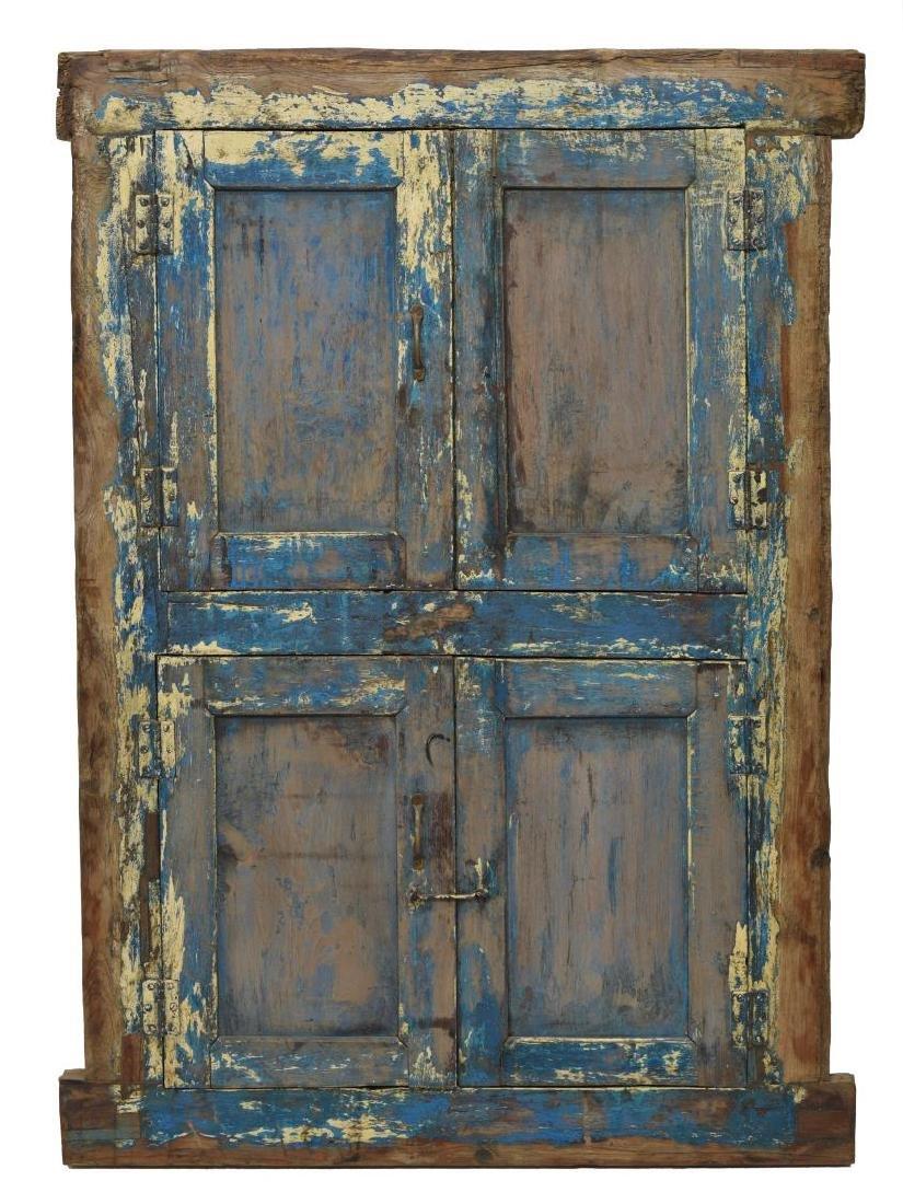 TEAKWOOD & IRON POLYCHROME WINDOW - 2