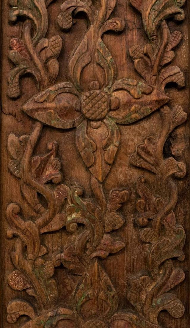 ANTIQUE FOLIATE CARVED ARCHITECTURAL DOORS & FRAME - 3
