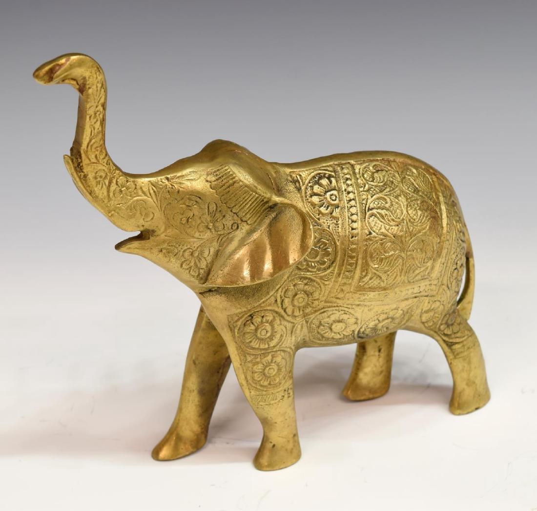 (7) DECORATIVE INCISED BRASS ELEPHANTS - 2