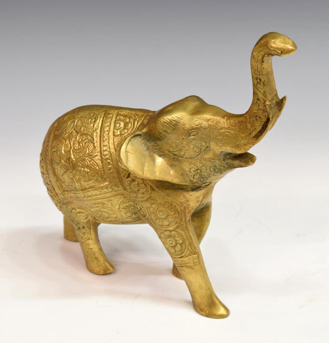 (7) DECORATIVE INCISED BRASS ELEPHANTS - 3