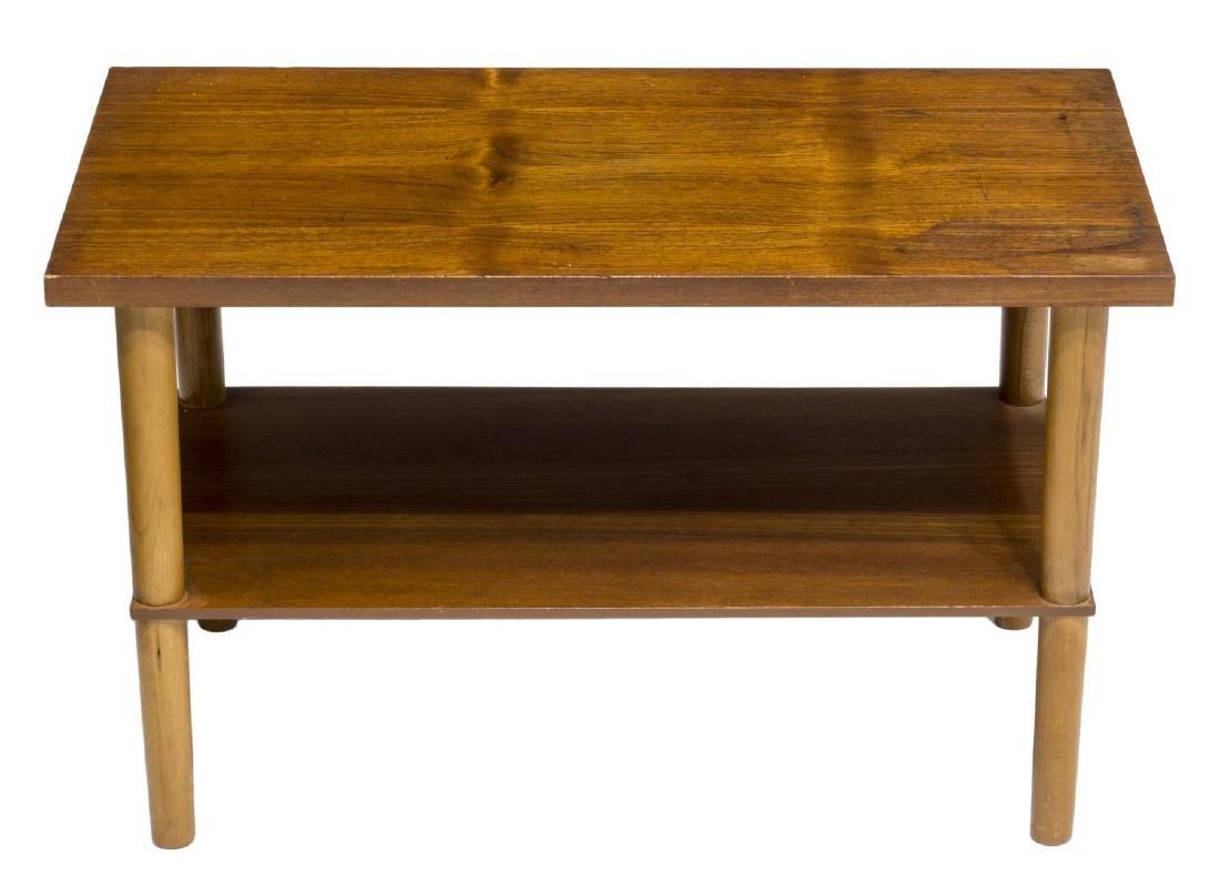 DANISH MID-CENTURY MODERN TEAKWOOD SIDE TABLE - 2
