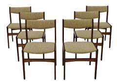 (6) DANISH MID-CENTURY MODERN ROSEWOOD SIDE CHAIRS