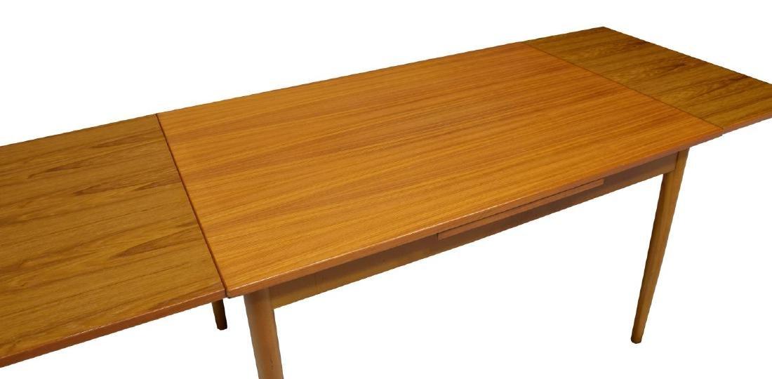 DANISH MID-CENTURY MODERN TEAKWOOD DINING TABLE - 4