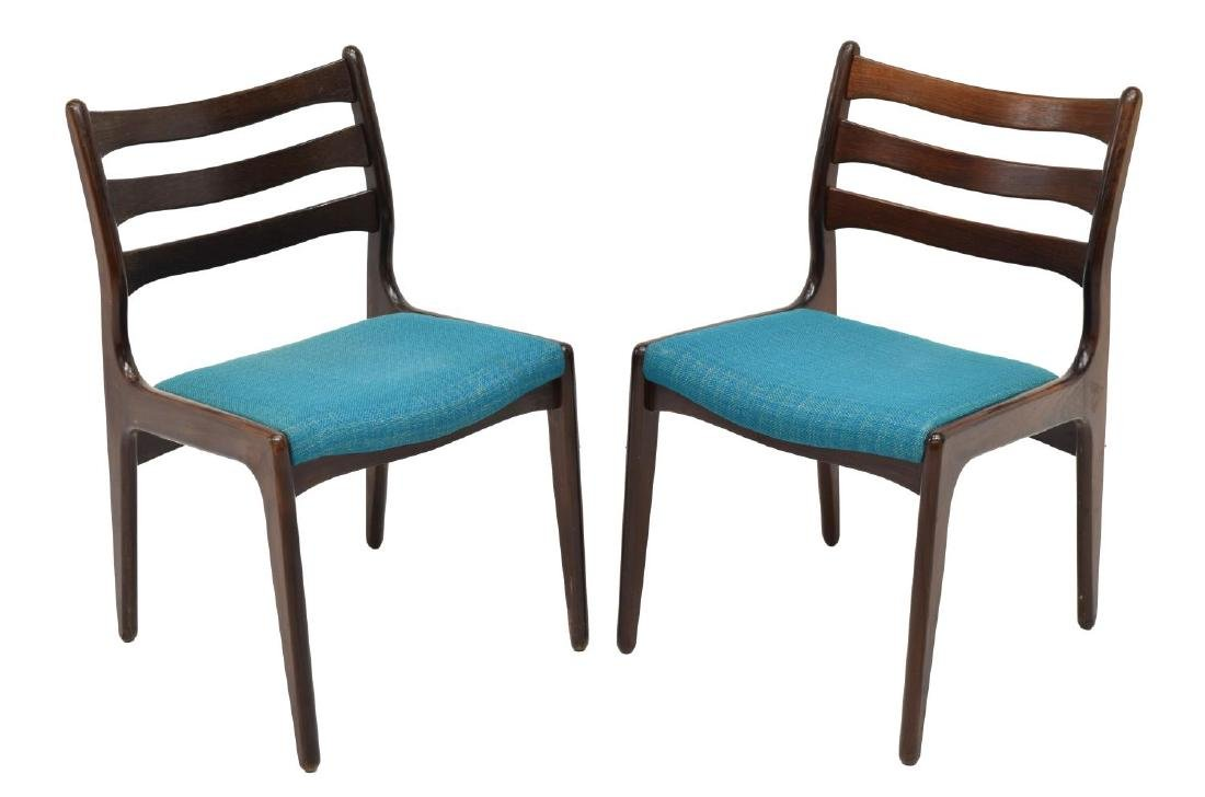 (5) DANISH MODERN ROSEWOOD SIDE CHAIRS