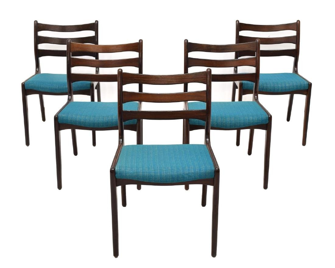 (5) DANISH MODERN ROSEWOOD SIDE CHAIRS - 3