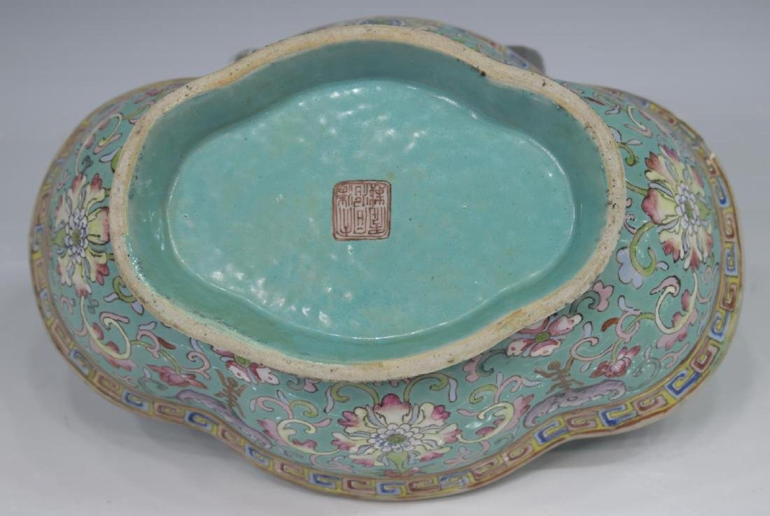 (4) CHINESE ENAMELED PORCELAIN TABLE ITEMS - 6