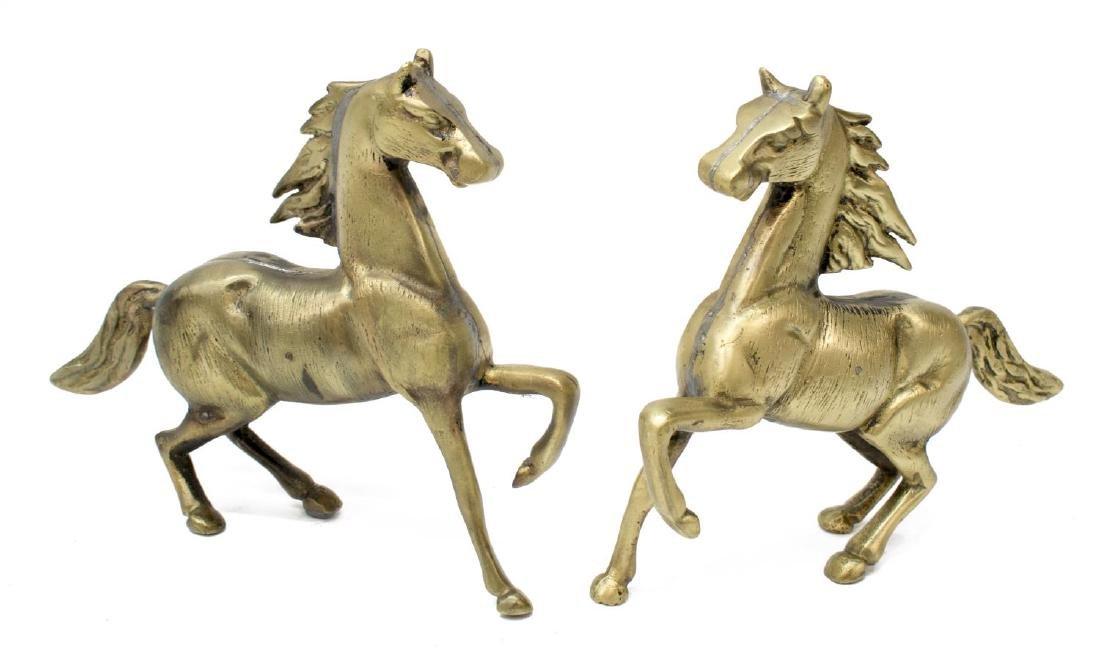 (5) DECORATIVE BRASS HORSES & BULLS - 2