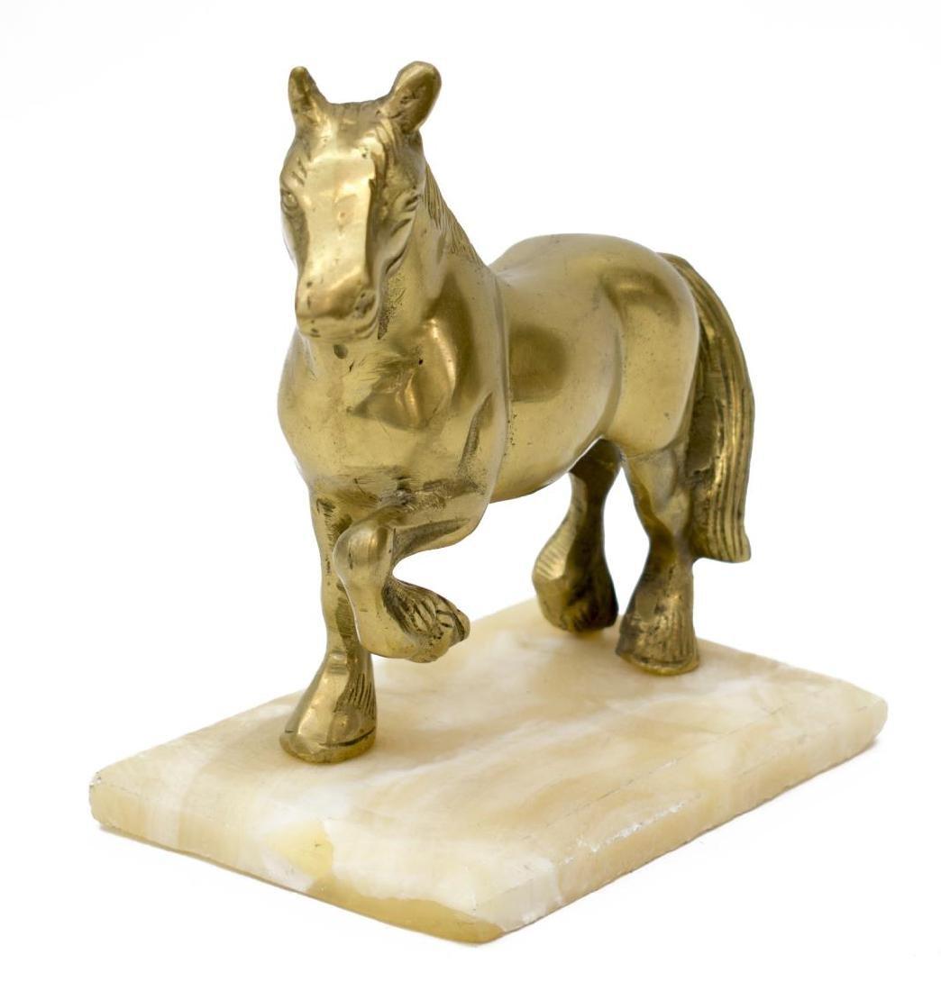 (5) DECORATIVE BRASS HORSES & BULLS - 3