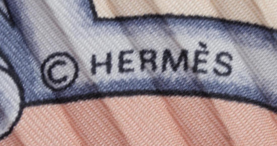 HERMES 'LES CHEVAUX DES MOGHOLS' PLEATED SCARF - 3