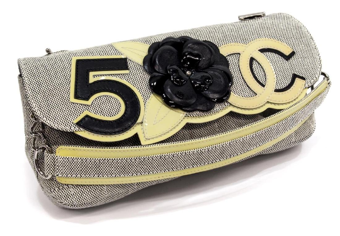 CHANEL 'CAMEILLA' NO.5 QUILTED BAGUETTE HAND BAG