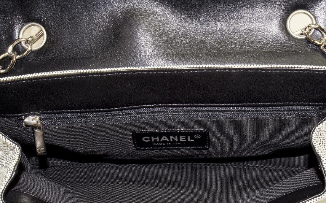 CHANEL 'CAMEILLA' NO.5 QUILTED BAGUETTE HAND BAG - 4