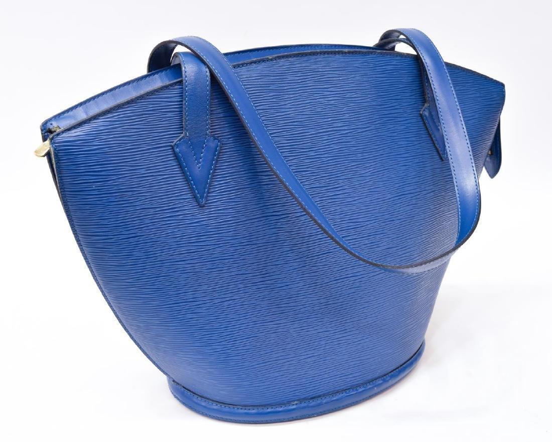 LOUIS VUITTON 'SAINT JACQUES' BLUE EPI LEATHER BAG