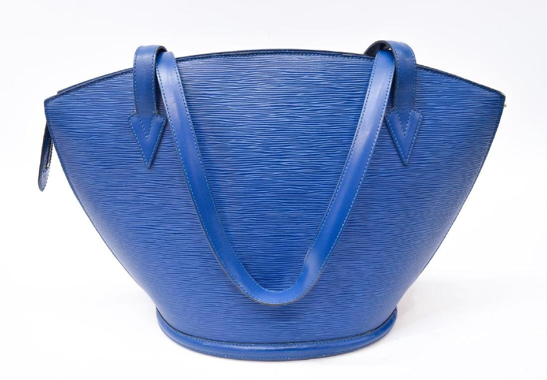 LOUIS VUITTON 'SAINT JACQUES' BLUE EPI LEATHER BAG - 2
