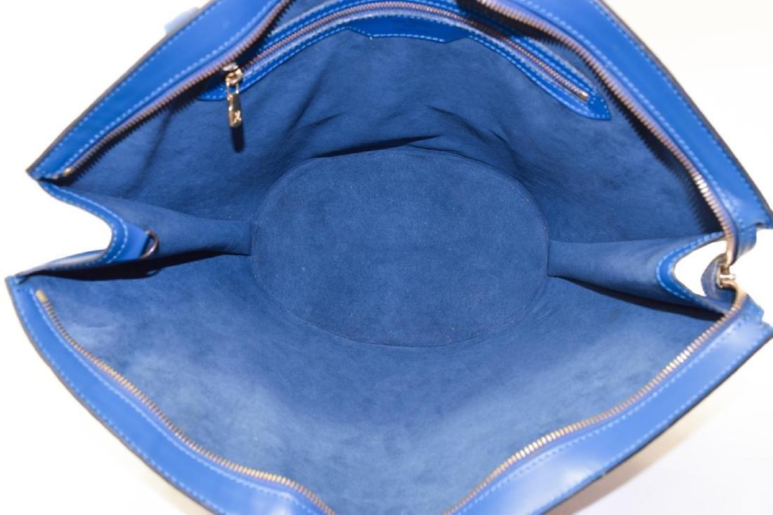 LOUIS VUITTON 'SAINT JACQUES' BLUE EPI LEATHER BAG - 5