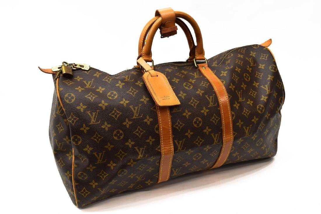 LOUIS VUITTON 'KEEPALL 50' MONOGRAM CANVAS DUFFLE