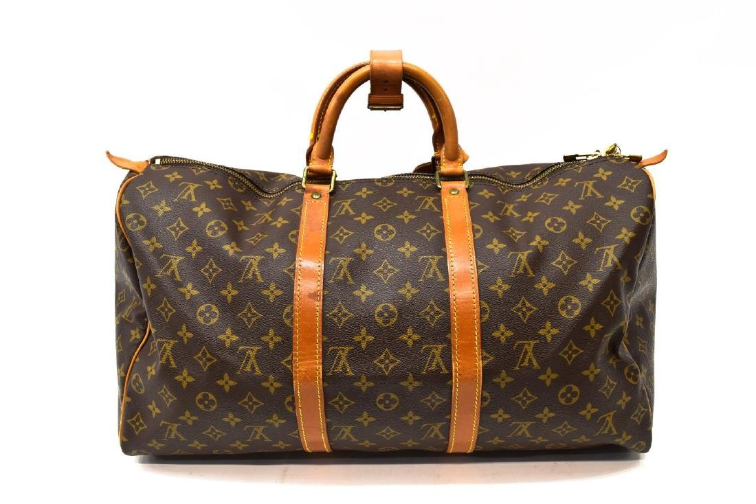 LOUIS VUITTON 'KEEPALL 50' MONOGRAM CANVAS DUFFLE - 2