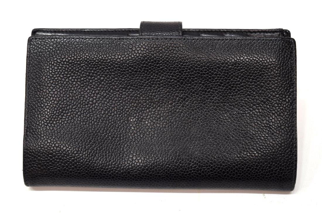 CHANEL BLACK CAVIAR LEATHER LONG FRONT WALLET - 2