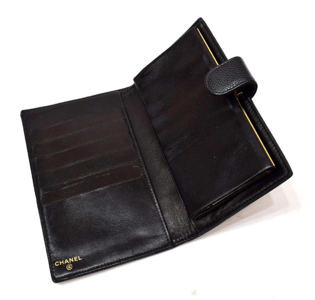 CHANEL BLACK CAVIAR LEATHER LONG FRONT WALLET - 3