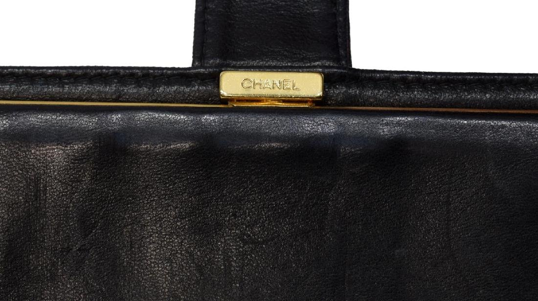 CHANEL BLACK CAVIAR LEATHER LONG FRONT WALLET - 4