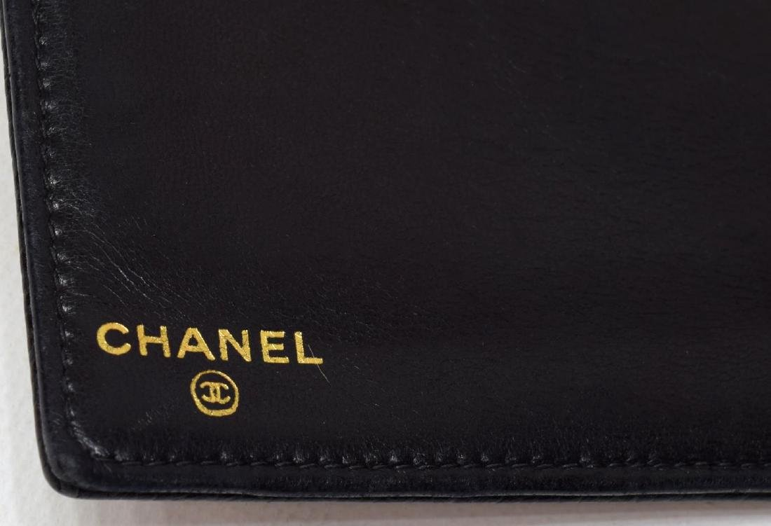 CHANEL BLACK CAVIAR LEATHER LONG FRONT WALLET - 5