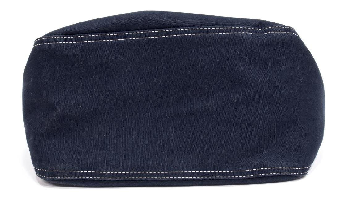 FENDI NAVY CANVAS SINGLE STRAP SHOULDER BAG - 5