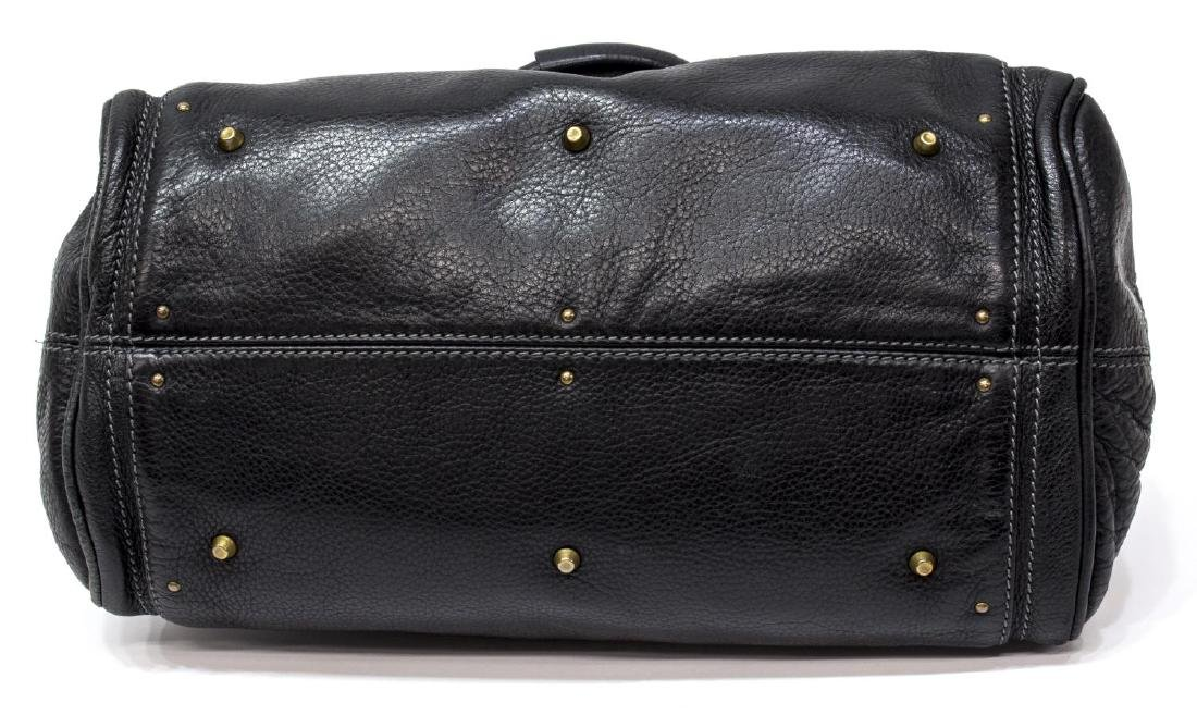 CHLOE 'PADDINGTON MM' BLACK LEATHER SHOULDER BAG - 3